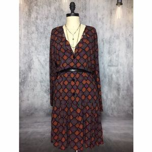 Vintage Dresses & Skirts - VINTAGE RAYON DROP WAIST STYLING WITH FULL BOTTOM!