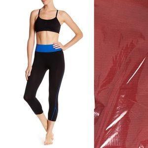 Electric Yoga Pants - Electric Yoga red contrast stitch capri