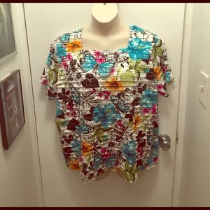 Alfred Dunner Tops - Alfred Dunner Butterfly Top