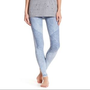 Electric Yoga Pants - Electric Yoga baby blue moto style leggings