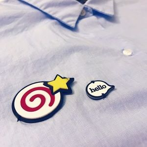 Zara Women Shirt/Blouse With Hello Badge