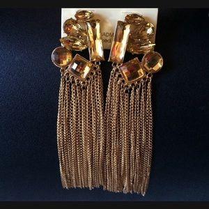 Jewelry - Gem Tassel Earrings