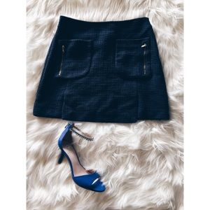 Zara Dresses & Skirts - Zara Basic Mini School Girl Textured Skirt SM