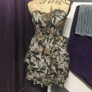 Poetry Dresses & Skirts - Camo strapless dress