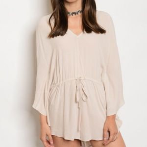 Other - NEW! Sand Long Sleeve Romper