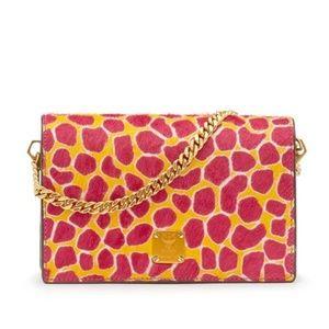 MCM Handbags - 💯Authentic MCM Pink Giraffe Mini Crossbody Clutch
