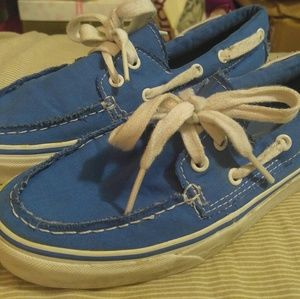 "Blue ""Sperry style"" Vans!"