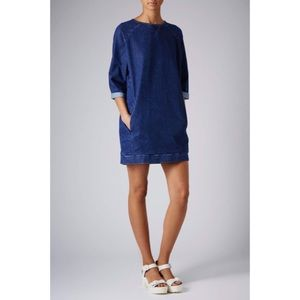 Topshop Dresses & Skirts - TopShop Moto Denim Jumper Dress 6
