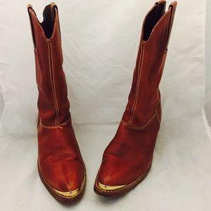 Giorgio Brutini Shoes - 80s Oxblood Leather Boots Heel 8 Giorgio Brutini
