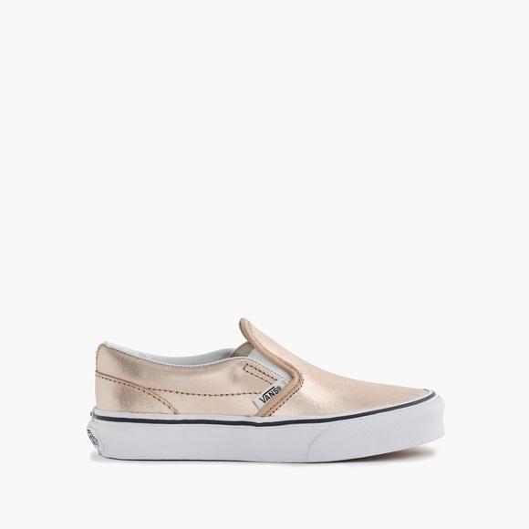 1318c9735807 Vans Rose Gold Classic Slip On Sneakers for Kids. M 58dde9459c6fcf0ffd01dcae