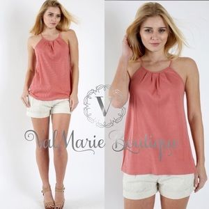 ValMarie Boutique Tops - LIGHTWEIGHT ASHY MAUVE RIBBED TANK