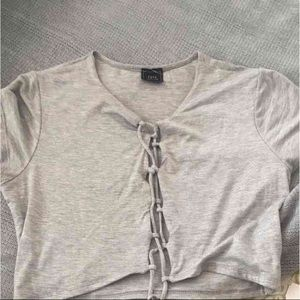 Other - Lace up crop top