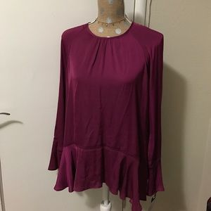 Tops - Magenta A line Bell Sleeves Top