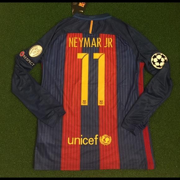 new concept 50994 2c014 Neymar JR Barcelona Long Sleeve Soccer Jersey #11 NWT