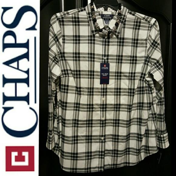 d71f8ad8dd371b Tops | Plus Size Chaps Noiron Shirt Womens | Poshmark