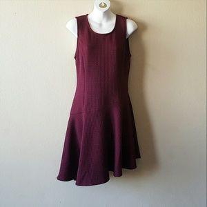 Sugarlips  Dresses & Skirts - Sugarlips Cabernet Textured Asymmetrical Dress
