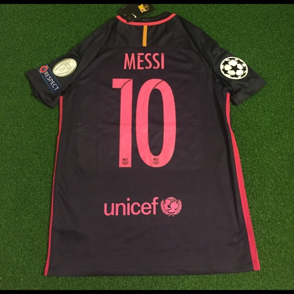 9f2b2bea3 MESSI Barcelona Soccer Jersey champions league  10