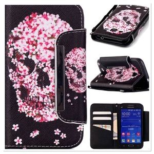 Pink Floral Skull IPhone Case
