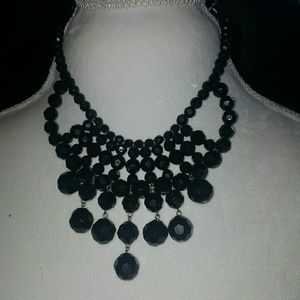 🌷5 for $25🌷Black acrylic statement necklace