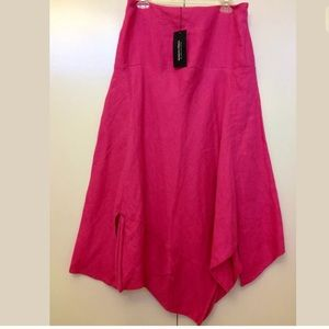Kokomarina Dresses & Skirts - $139NWT KOKOMARINA Boho asymetric linen maxi skirt