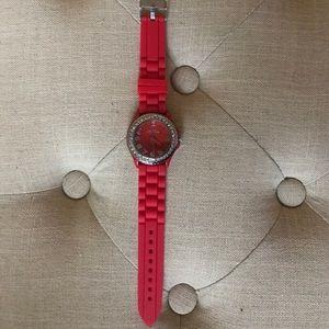 Geneva Platinum Accessories - Geneva silicone and stud watch