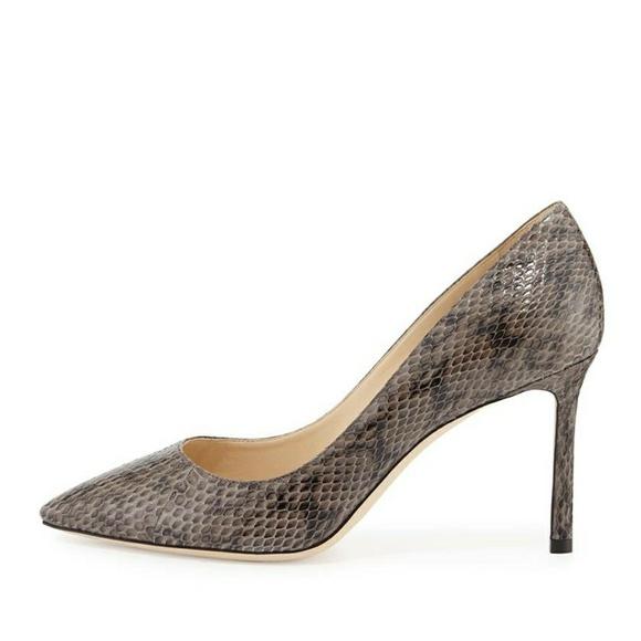 Sold Jimmy Choo Romy Snakeskin Heels