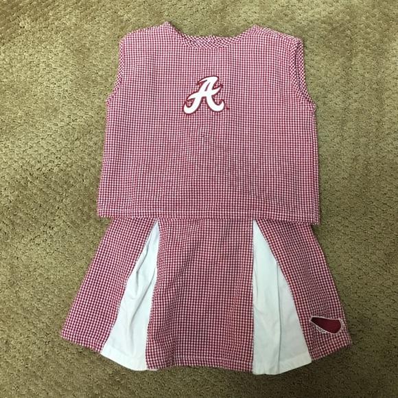EUC Alabama 3-piece Cheerleader Outfit - 6