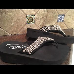 Lilypad Shoes - Lilypad Bling Sandals Worn Once