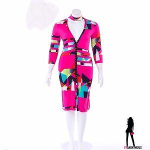Dresses & Skirts - PLUS Colorblock Choker Tube Dress