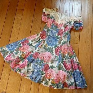 Beautiful vintage 1980s Karen Lucas for Niki dress