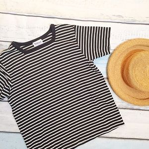 Westbound Tops - Black and White Striped Tee