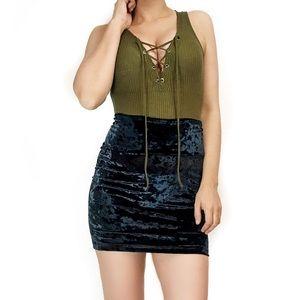 Forever 21 velvet skirt