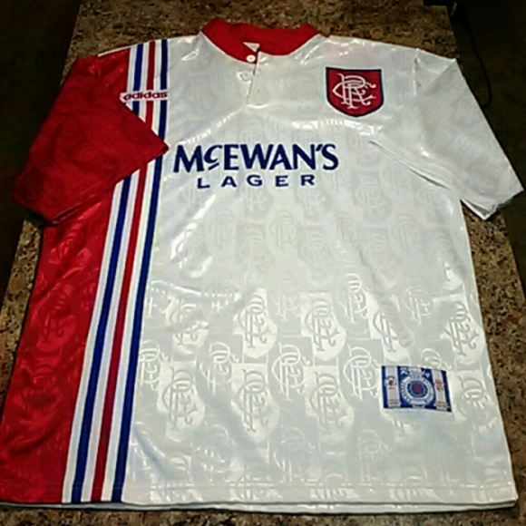 b1b9c657452 Adidas Other - Vintage Adidas Glasgow Rangers soccer jersey Large