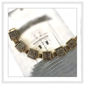 Vintage Damascene Style Enamel Bracelet