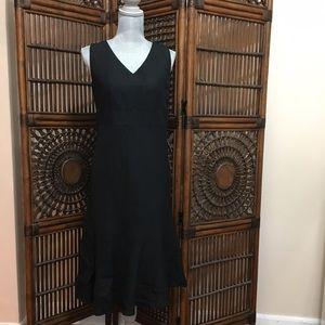 LOFT Dresses & Skirts - Ann Taylor LOFT black linen midi dress