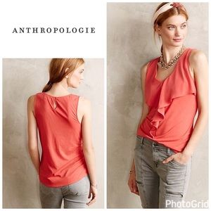 Anthropologie Pinna top - coral