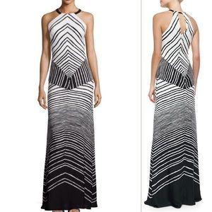 Halston Heritage Dresses & Skirts - Halston Heritage Halter Neck Striped Maxi Dress