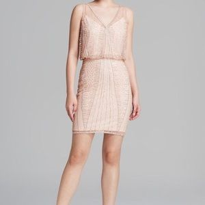 Adrianna papell nude  sequin dress