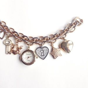 Armitron Accessories - womens charm bracelet gold watches stainless steel