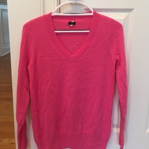 J Crew Cashmere V neck sweater  size M