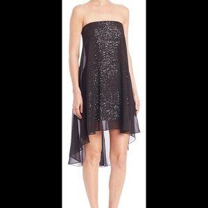 Halston Heritage Dresses & Skirts - Halston Heritage Sequin with Sheer Overlay Dress