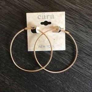 Cara Gold Hoop Earrings