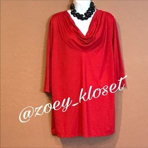 Just My Size Tops - 🆕WOT Just My Size Red Tunic Top