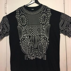 Kokon To Zai Other - KTZ  Black and Grey Reflective Tattoo Print Shirt