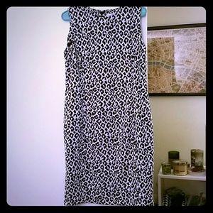 Sexy Calvin Klein Leopard Shift dress