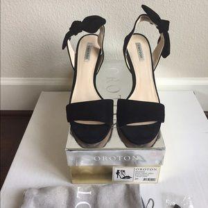 788d492b33a Shoes - Oroton Splendid Knot Strap Heels
