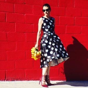 Cursing Ballerina Dresses & Skirts - Black & White Polka-Dot Dress