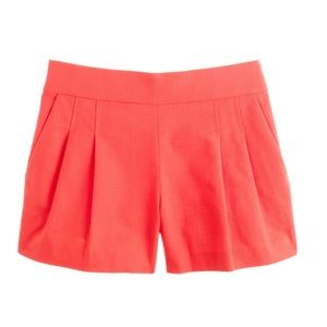 J.Crew Pleated Short in Structured Cotton Sz 0 NEW