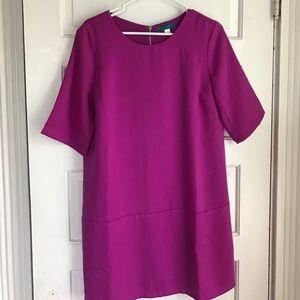 Pim + Larkin Magenta Shift Dress
