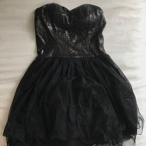 Black sequin formal dress